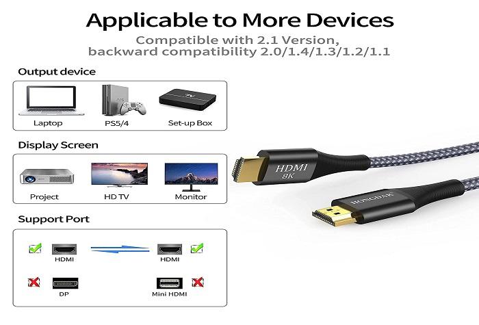 HONGDAK 8K HDMI Cable 3