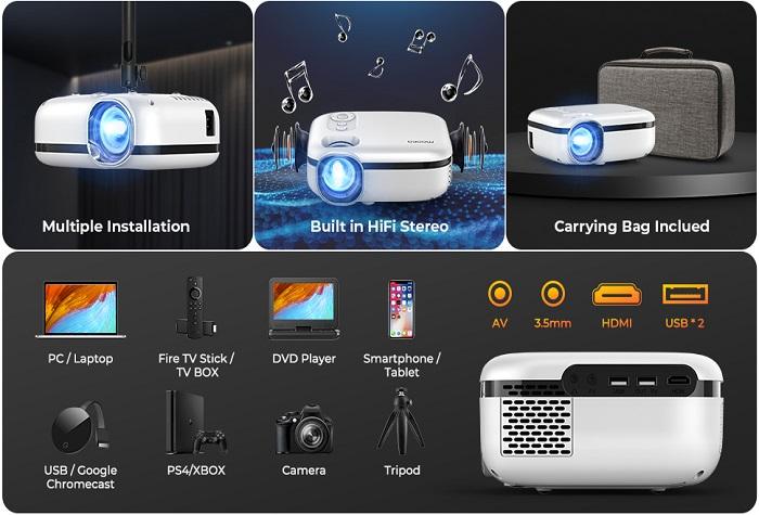 Mooka WiFi Projector 